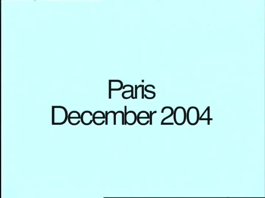Paris December. 2004
